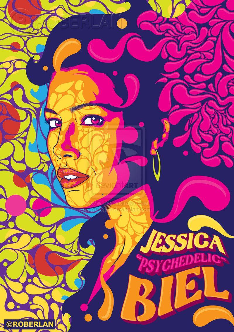 Jessica Psychedelic Biel by roberlan.deviantart.com on @deviantART ...