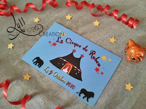 th me cirque invitation anniversaire cirque. Black Bedroom Furniture Sets. Home Design Ideas