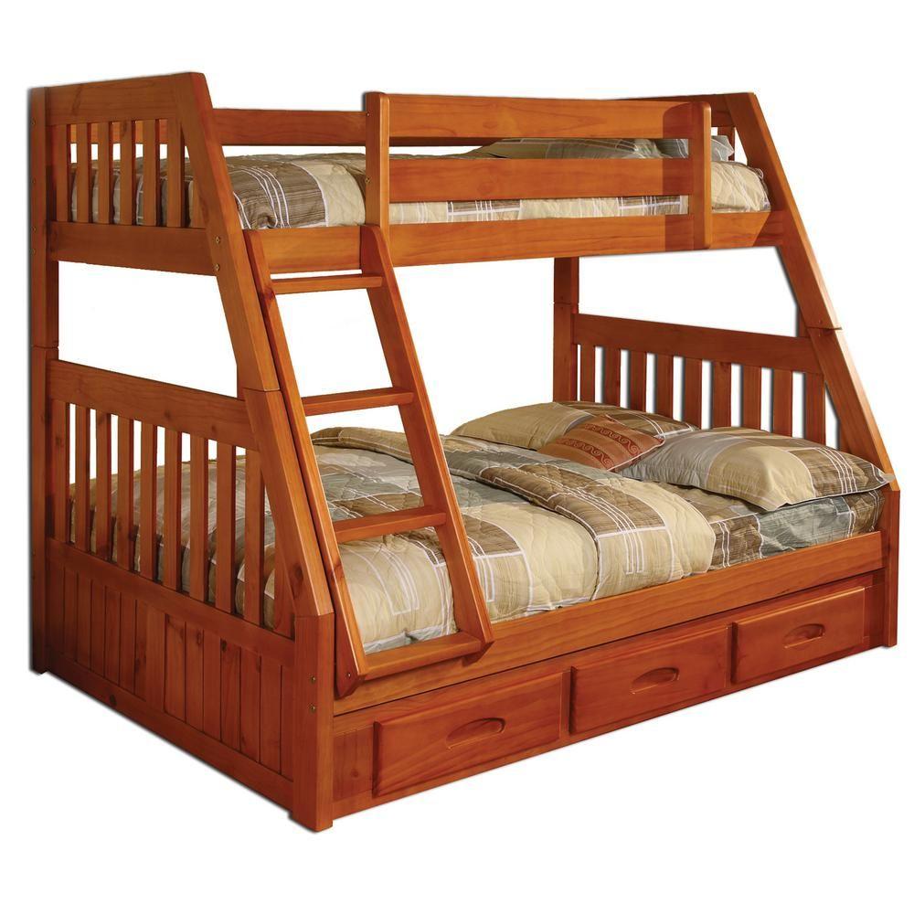 American Furniture Classics Honey Twin over Full Solid