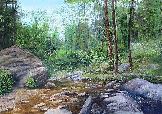 Shenandoah Woods by Sandy Askey-Adams Pastel ~ 18 x 23 1/2