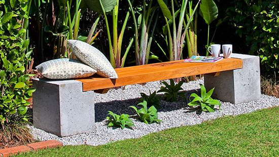 How To Make A Concrete And Timber Bench Seating Alternative For
