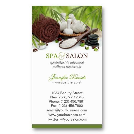 Spa massage salon business card template card templates business spa massage salon business card template fbccfo Image collections