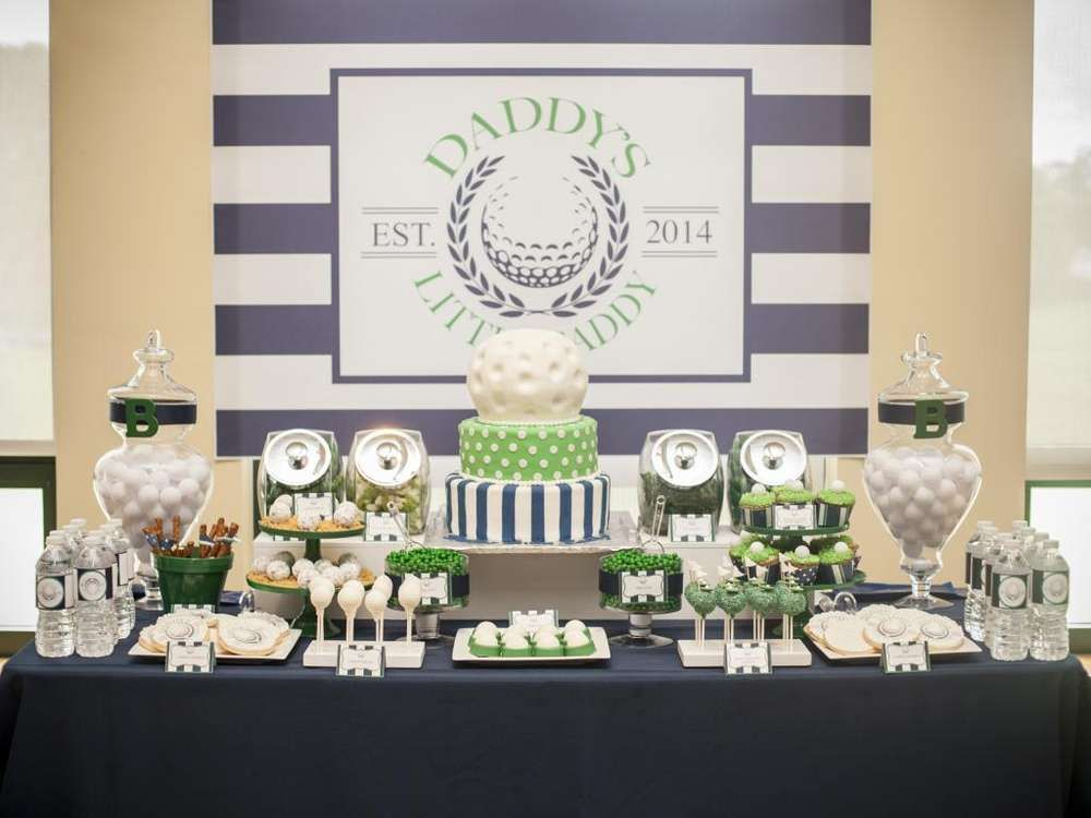 Awe Inspiring Golf Themed Baby Shower Dessert Table See More Party Home Interior And Landscaping Pimpapssignezvosmurscom