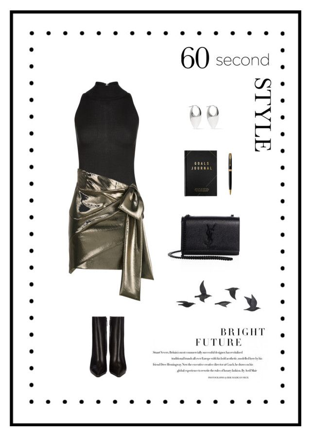"""60 Second Style // Asymmetric Skirt"" by theredpoppy ❤ liked on Polyvore featuring La Perla, Yves Saint Laurent, Balenciaga, Acne Studios, kikki.K, Parker and Jayson Home"