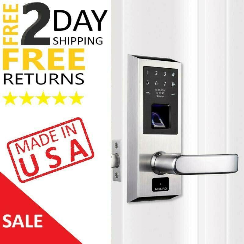 Smart Fingerprint Biometric Door Lock Keyless Electronic Front Handle Digital Biometric Door Lock Biometrics Fingerprint