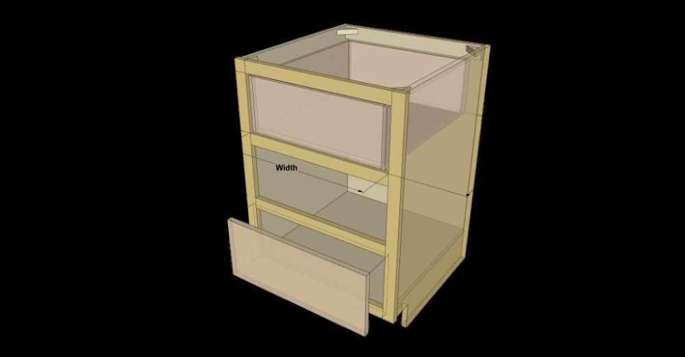 Kreg Drawer Sizing Guide Drawers Lumber Sizes Building A Kitchen