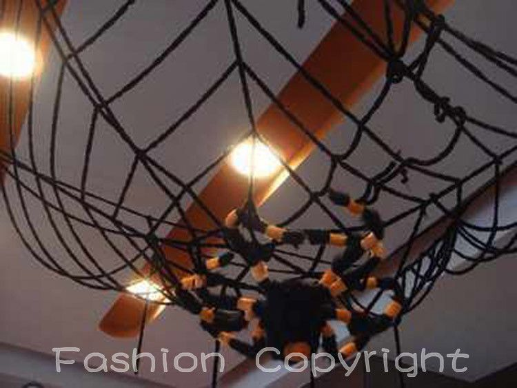 New huge Spider Web Halloween Decoration Party Gift 98ft/49ft - spider web halloween decoration