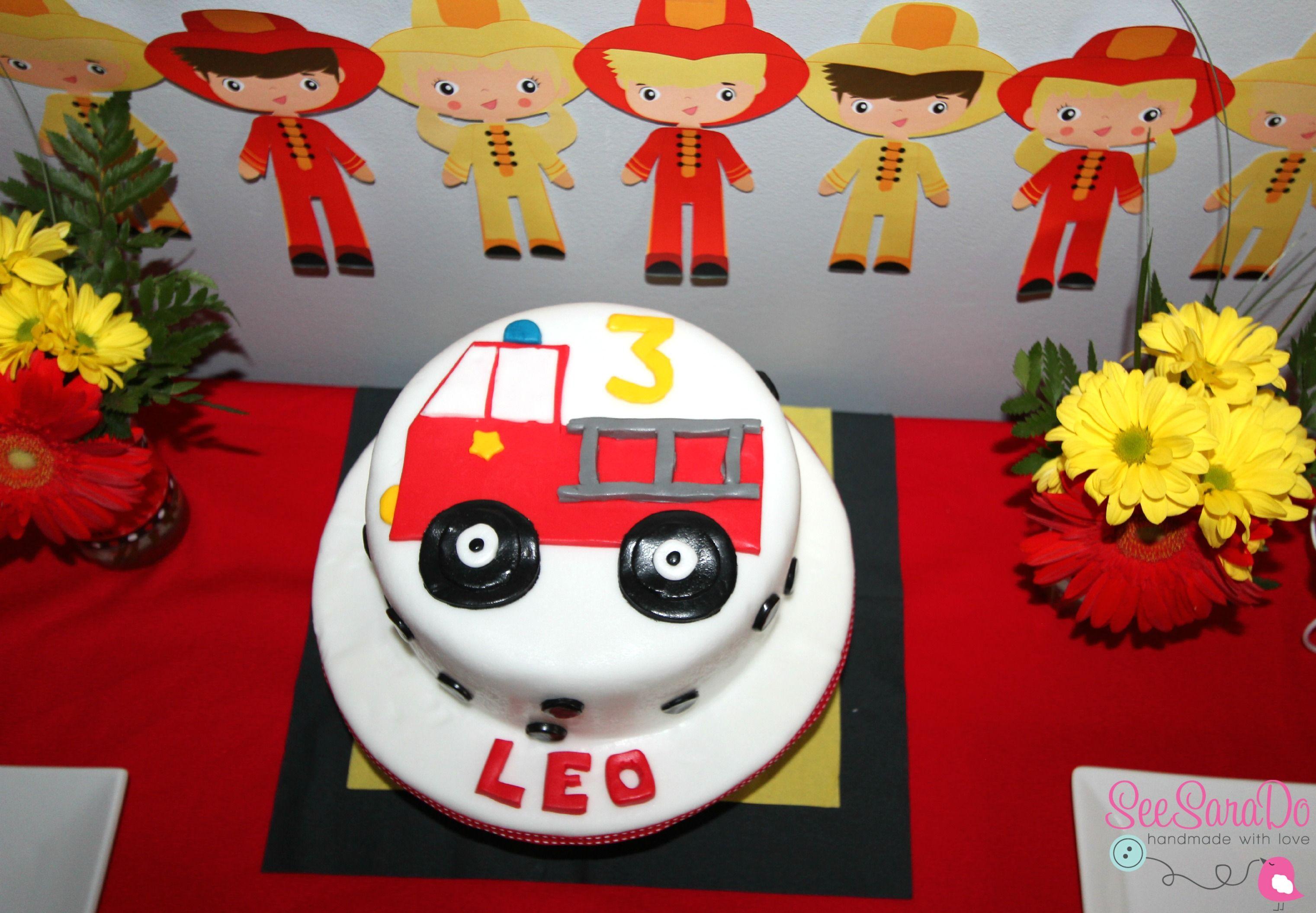 Gâteau D Anniversaire Camion De Pompiers Super Mario
