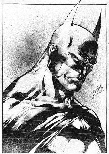 dibujos de batman a lapiz carboncillo | Super Heroes DC | Pinterest ...
