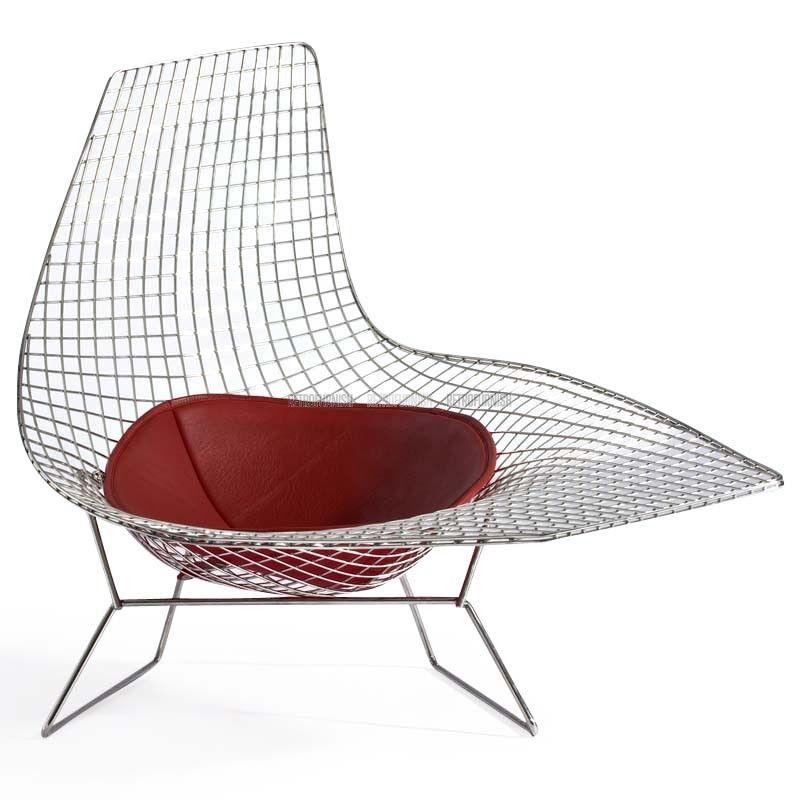 Chaise Fil Asymmetric Modern Chaise Lounge Chaise Bertoia