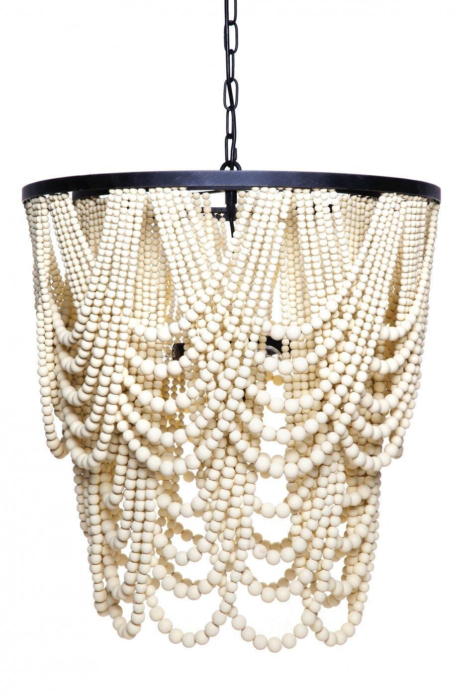 Bilgola pendant wooden beads pendant lighting and iron bigola pendant light simple iron frame with white antique wooden beads arubaitofo Image collections