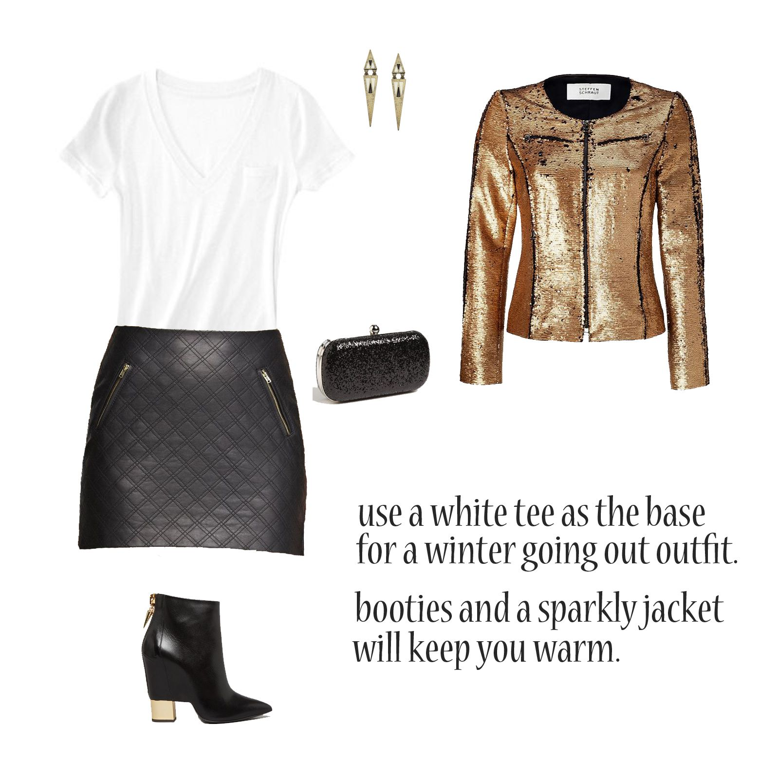 grey et al's how to: transition your whites to winter.  winter dressy outfit.  outfit for going out in the winter.