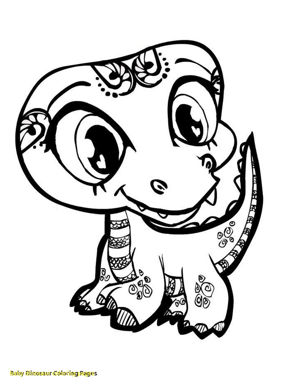 Baby Dinosaur Coloring Pages with