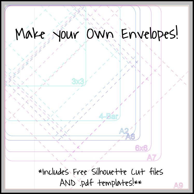 Make your own envelopes! Tutorial and free cut file via Please - 4x6 envelope template