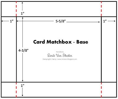 Card Matchbox Template ) Die Cut templates, SVG, PDF, and ideas - trading card template