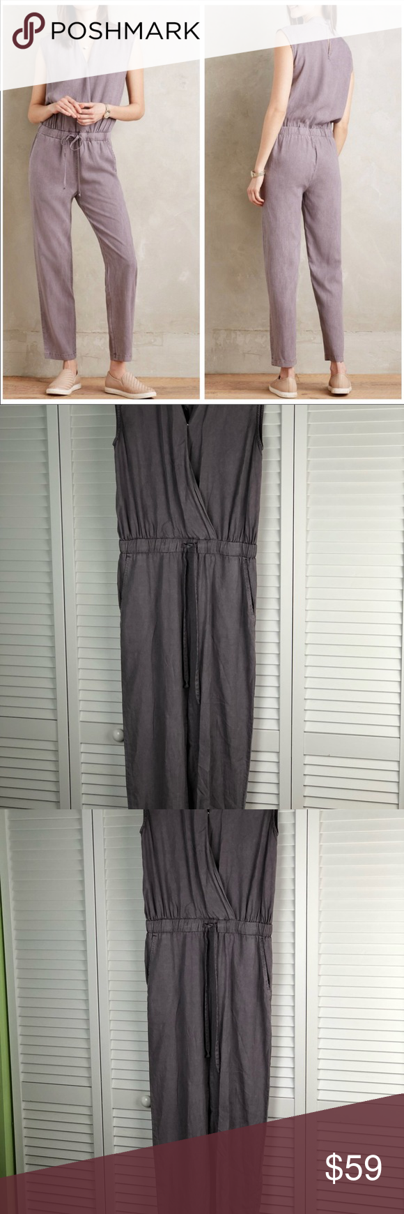 88f2e22b66c Anthropologie Cloth   Stone Mignon Jumpsuit XS Purple