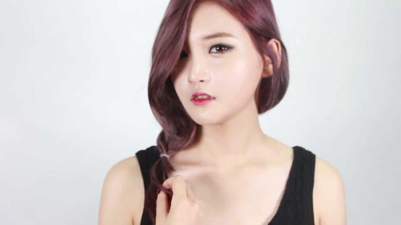 [korean hairstyle] How To: Basic Side French Braid -  [셀프헤어] 3분만에 여성스럽게 ...