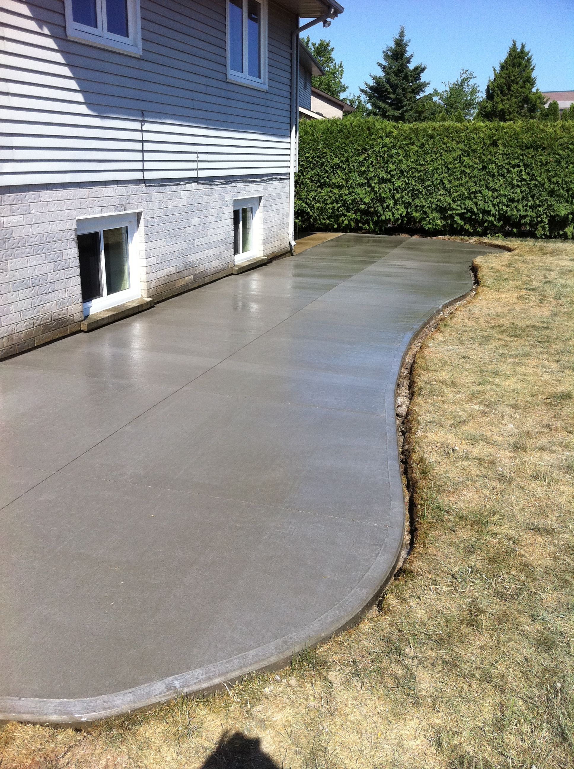 Cement Patio Designs Stained Concrete Floor Designs: Broom Finished Concrete Patio In London Ontario
