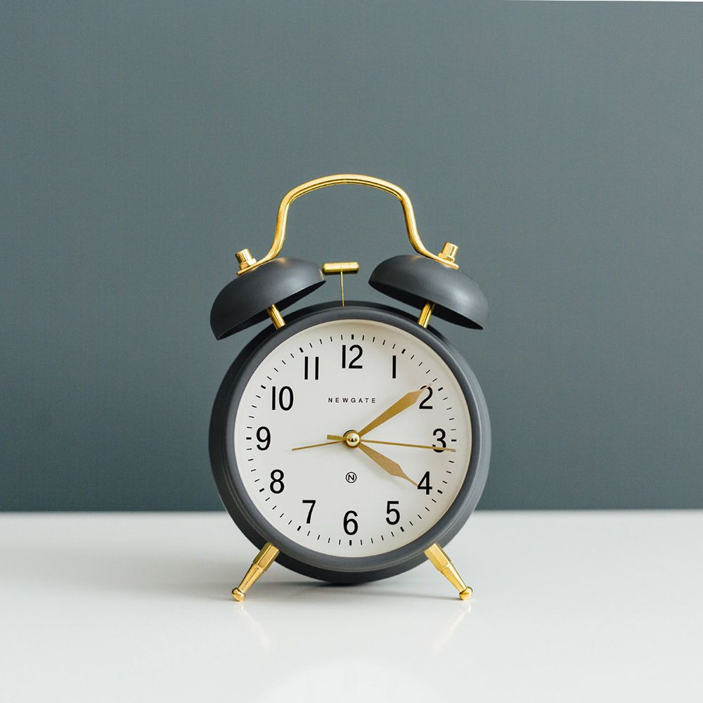 Buy Newgate Clocks Brick Lane Alarm Clock - Moonstone/Brass | Amara