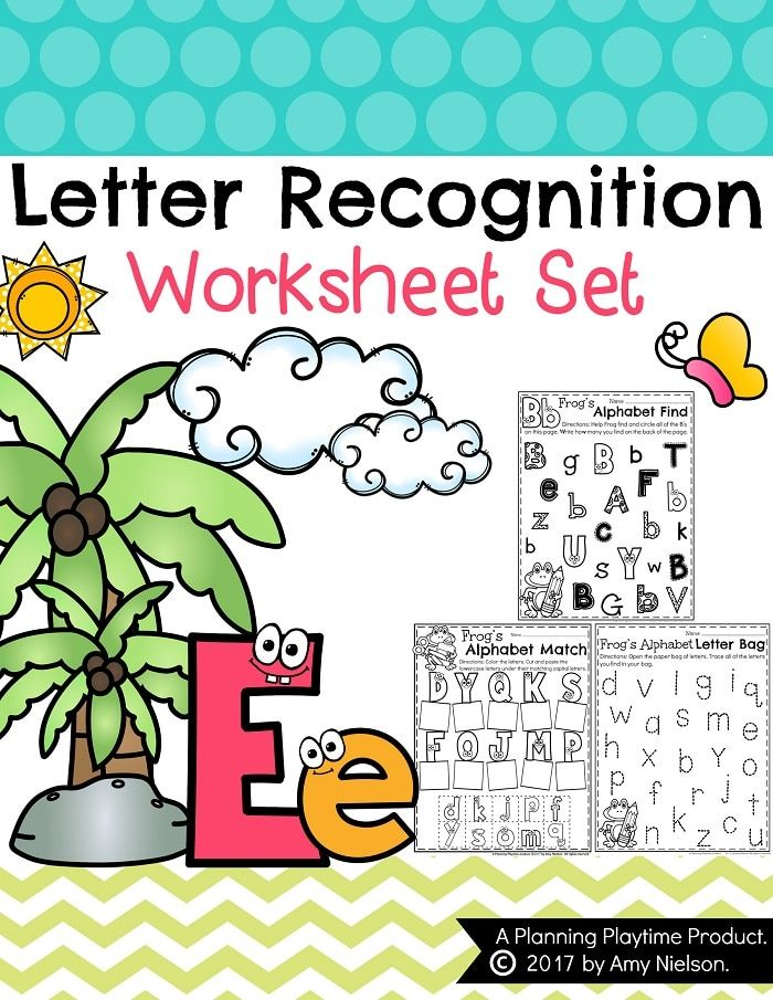 letter recognition worksheets teachers pay teachers my store letter recognition letter. Black Bedroom Furniture Sets. Home Design Ideas