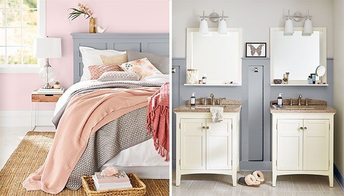 Paint Color Ideas For A Coordinated Bedroom And Bathroom Bedroom Colors Gray Master Bedroom Bedroom Paint Colors Grey