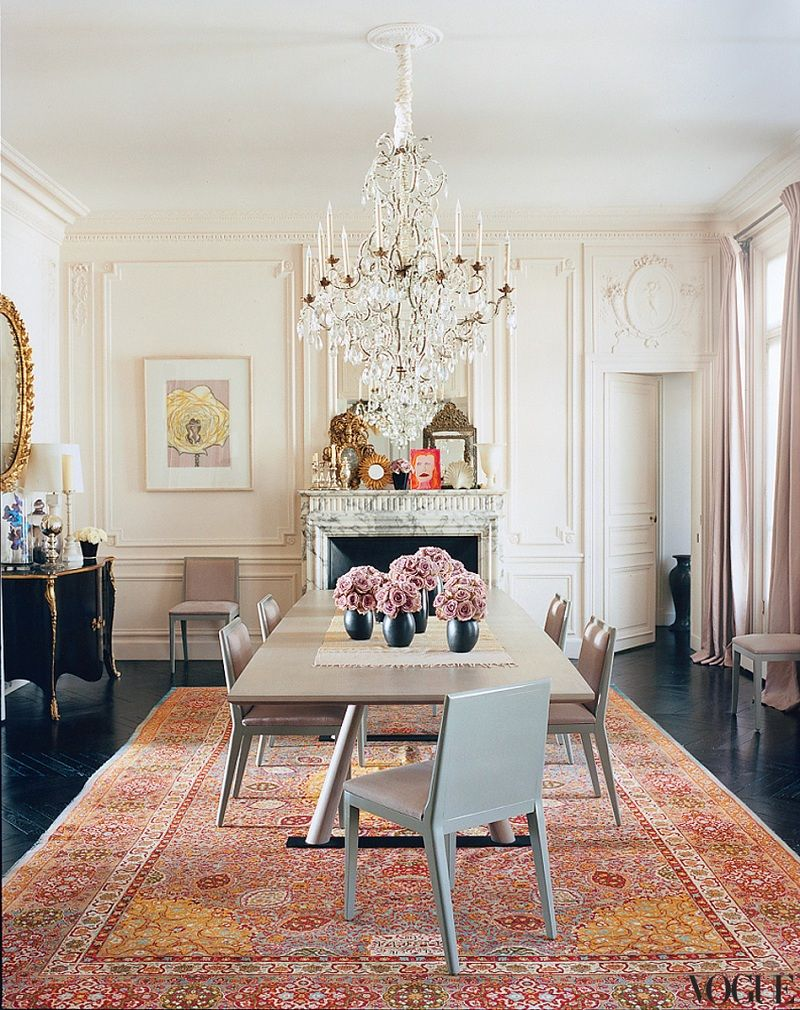 Absolutely Gorgeous Dining Room In Parisian Chic Style
