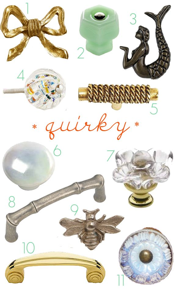 Quirky Drawer Knobs And Pulls For The Links To Where To