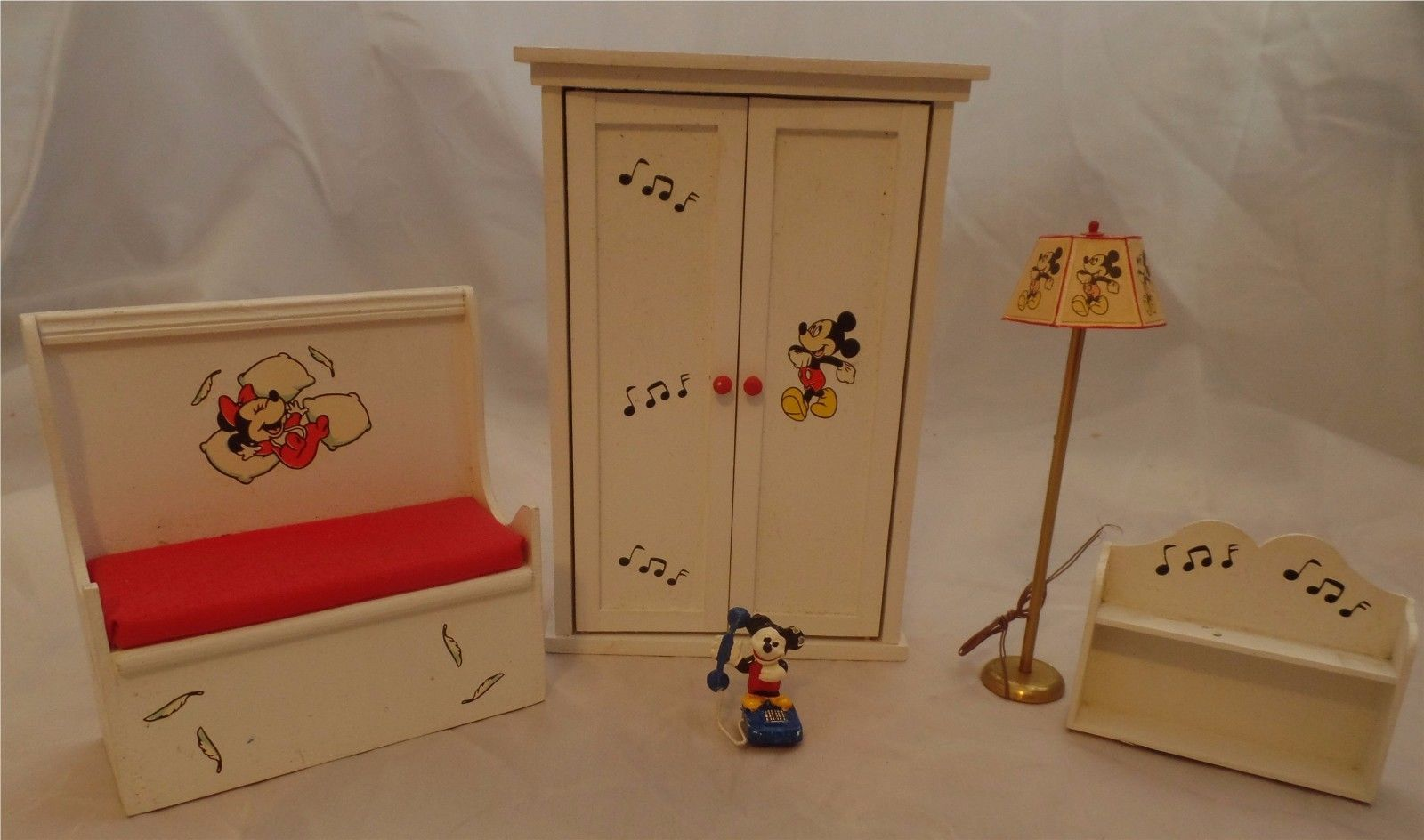 Mickey Mouse Disney Dollhouse Nursery Miniature Furniture Set By Pitty Pat  | EBay