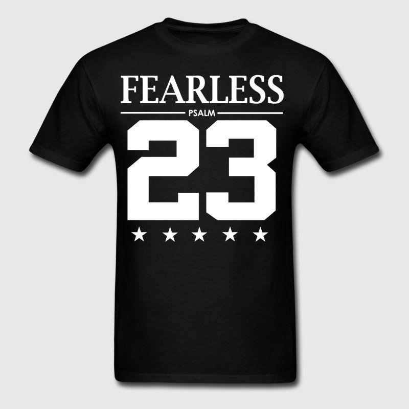 14fa04bb30972b Fearless Psalm 23 - Bible Verse Quote - Men s T-Shirt