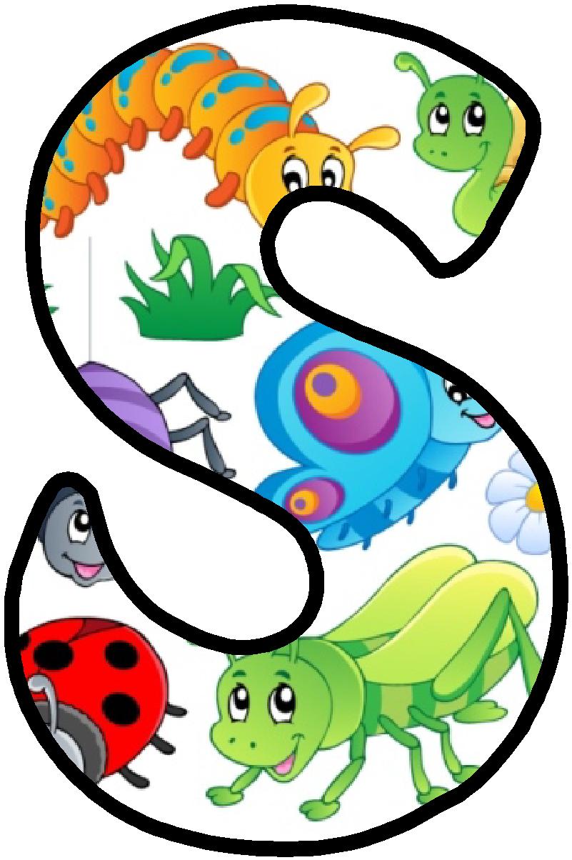 Pin de maria jose reina fernandez en proyecto los animales letras abecedario y alfabeto - Letras decoradas infantiles ...