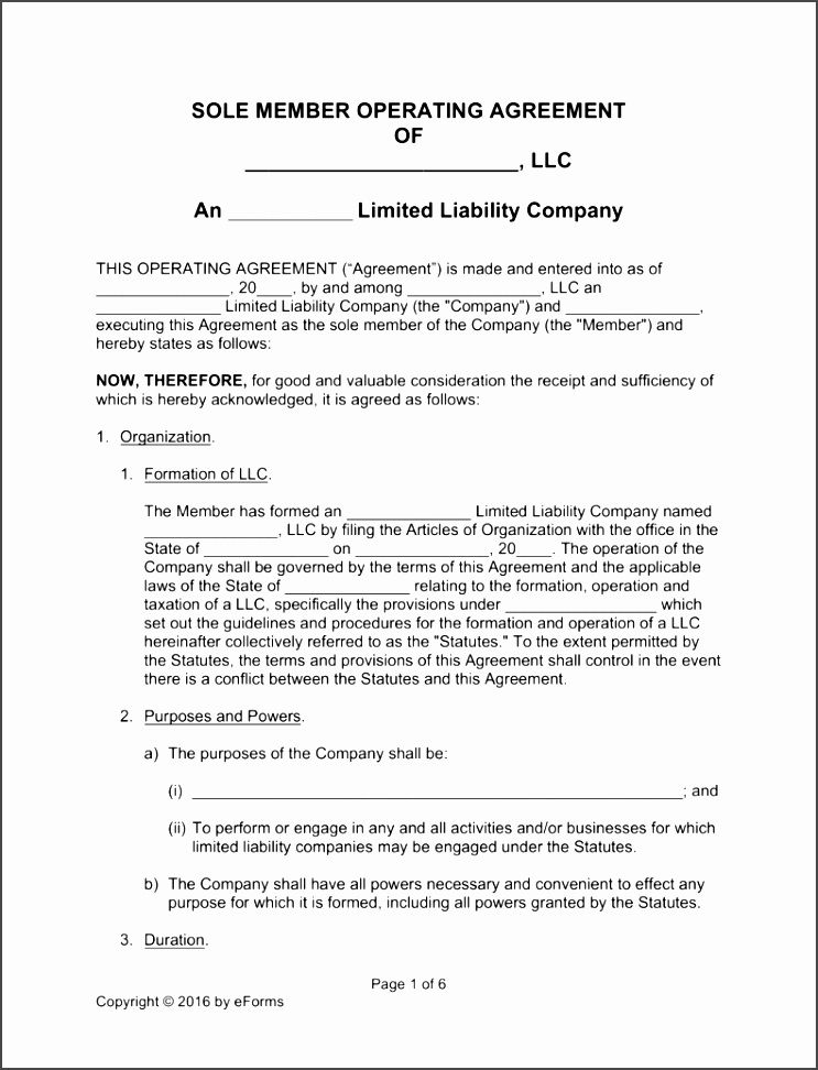Texas Llc Operating Agreement Template Hjdnk Best Of Free Single - Basic llc operating agreement template