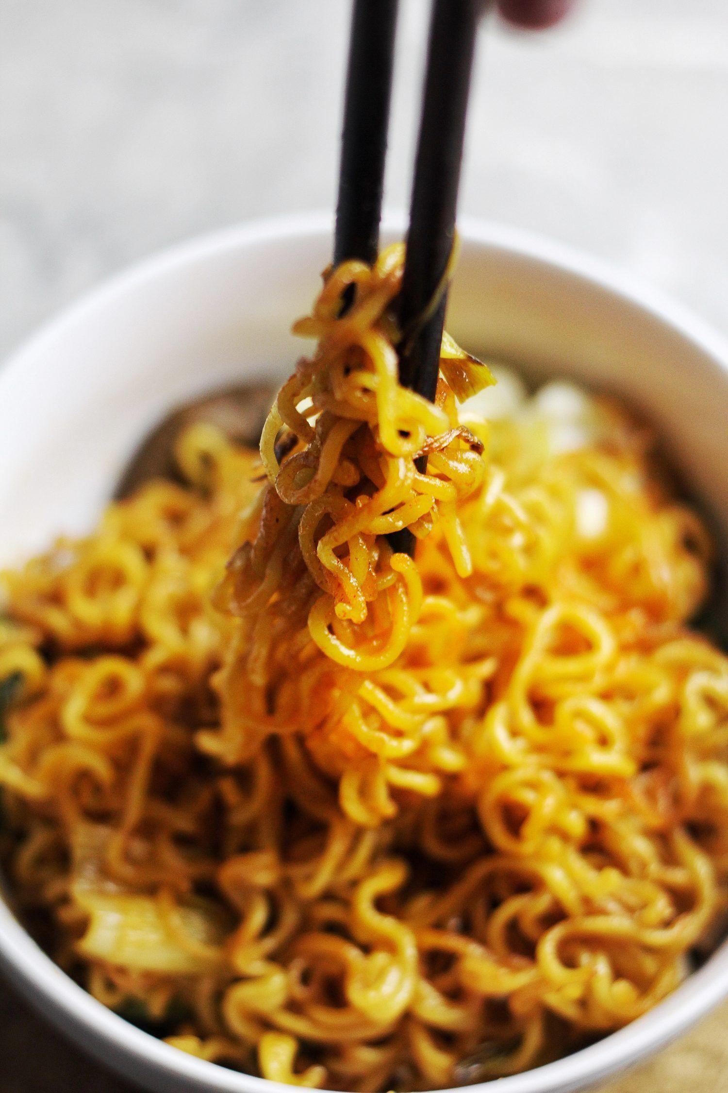 Instant Ramen Upgrade Easy 30 Minute Spicy Fried Noodles Receta