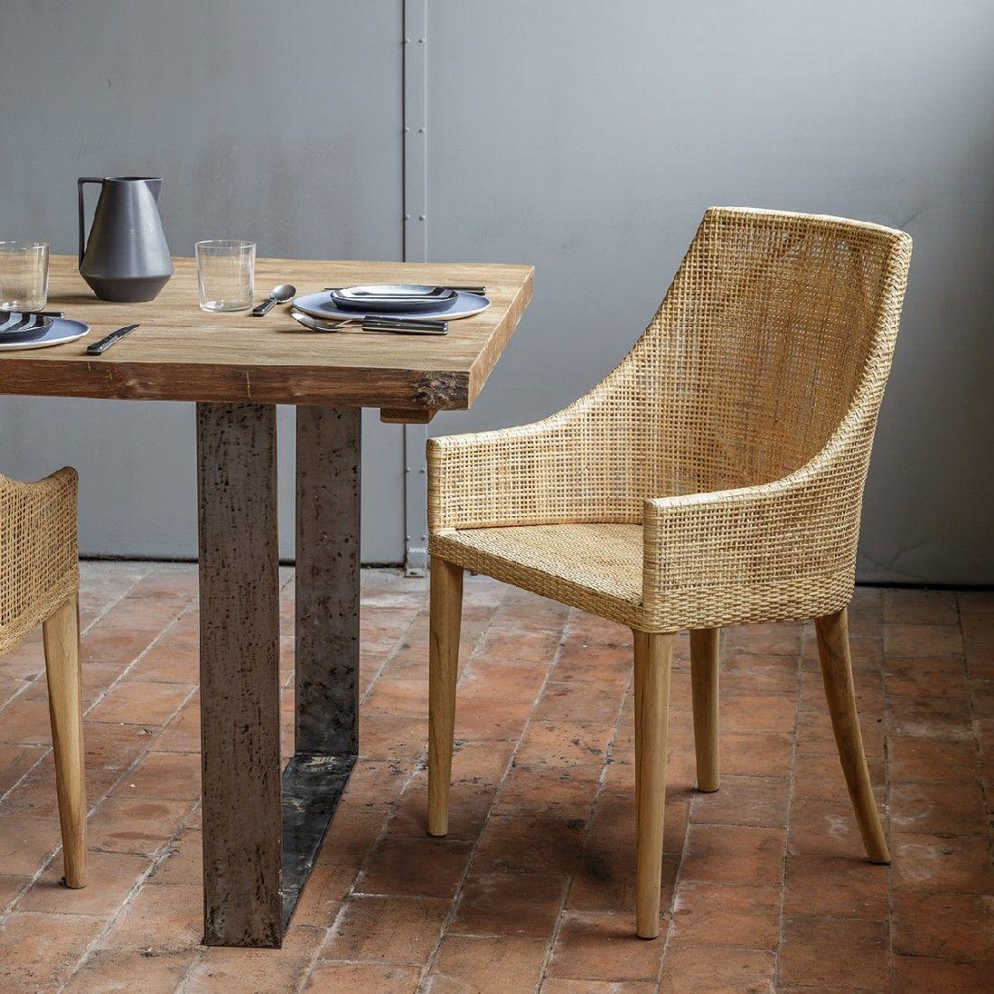 Fauteuil De Table En Rotin Saigon Fauteuil De Table Meuble