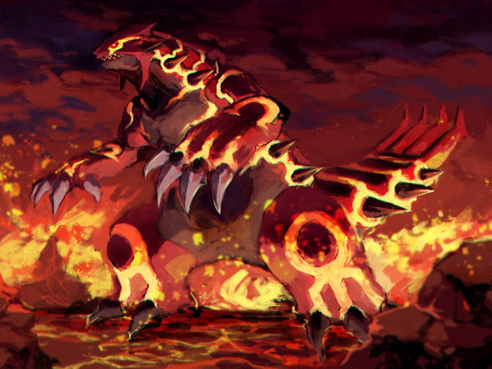Groudon Pokemon Hd Wallpaper Wallpapers Wallpapersgroudon Ruby Plush Kyogre Movie Rayquaza 1600x1200