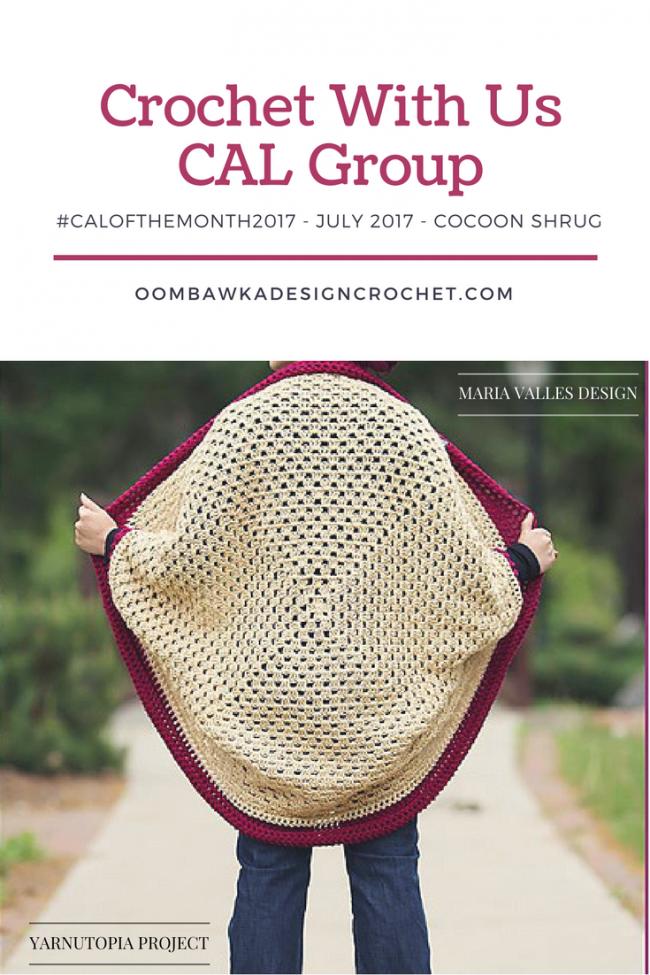 July #CALOFTHEMONTH2017 Cocoon Shrug CAL