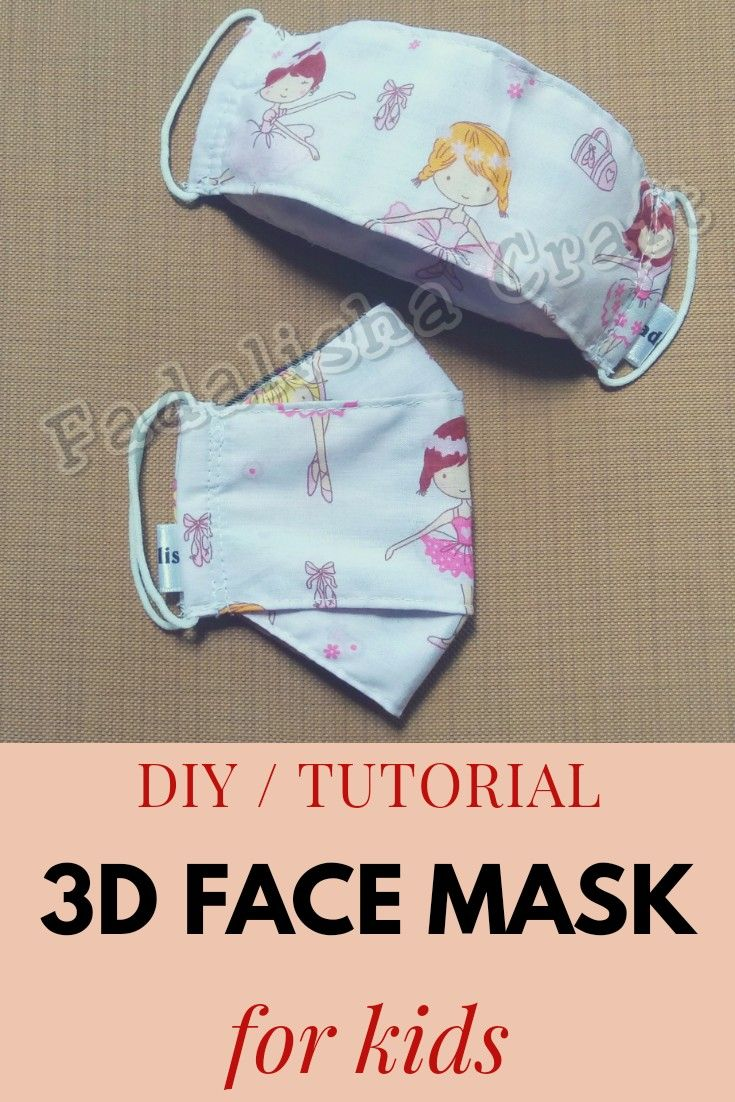 Photo of DiY / Tutorial 3D Face Mask For Kids