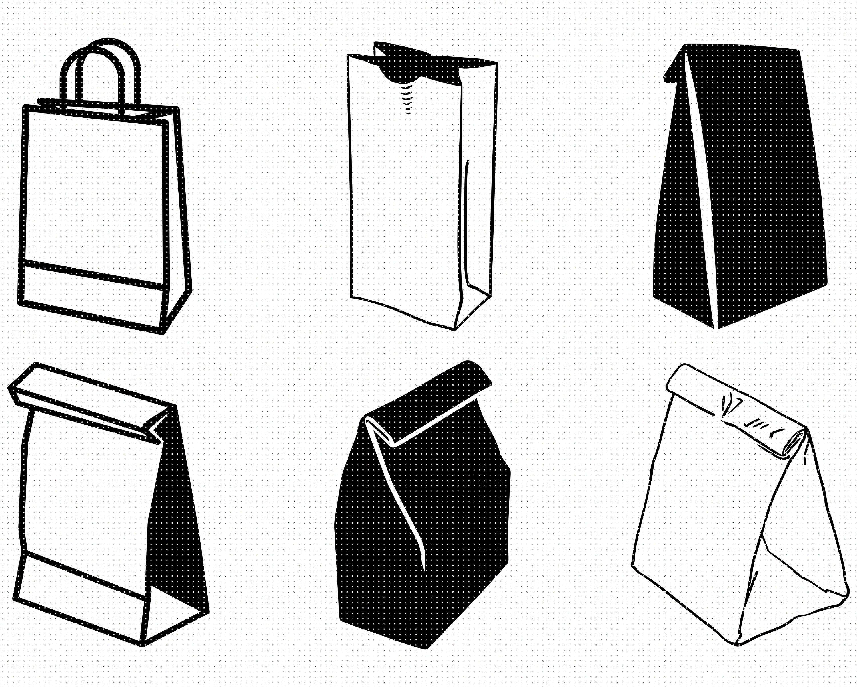 Paper Bag Svg Bundle Paper Bag Svg Paper Bag Silhouette Etsy Textile Care Symbols Paper Bag Svg
