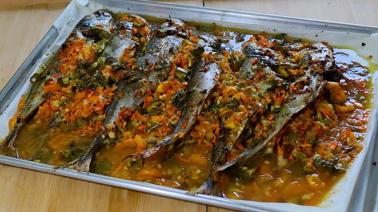 سمك الماكريل في الفرن رووووعة The Tastiest Oven Grilled Mackerel Fish Egyptian Food Mackerel Fish Grilled Mackerel