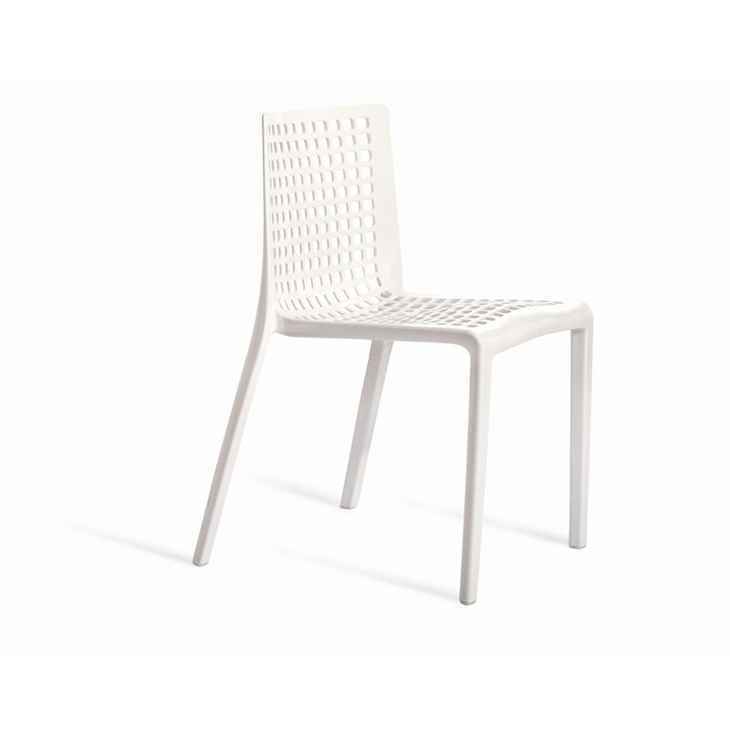 Find Marquee Leco Bell Cafe Resin Chair White At Bunnings