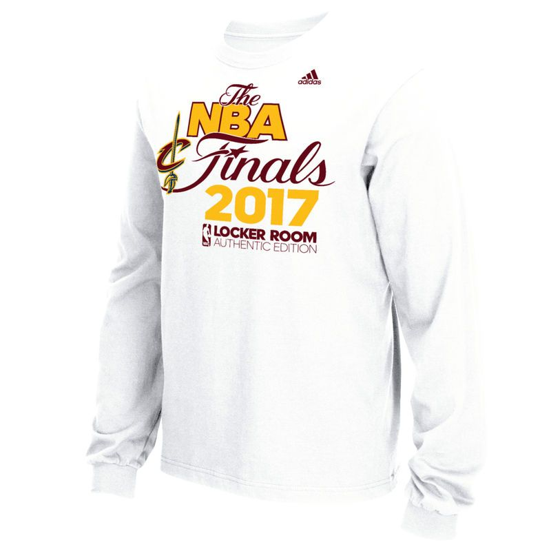 495997d5596 Cleveland Cavaliers adidas 2017 Eastern Conference Champions Locker Room  Long Sleeve T-Shirt - White