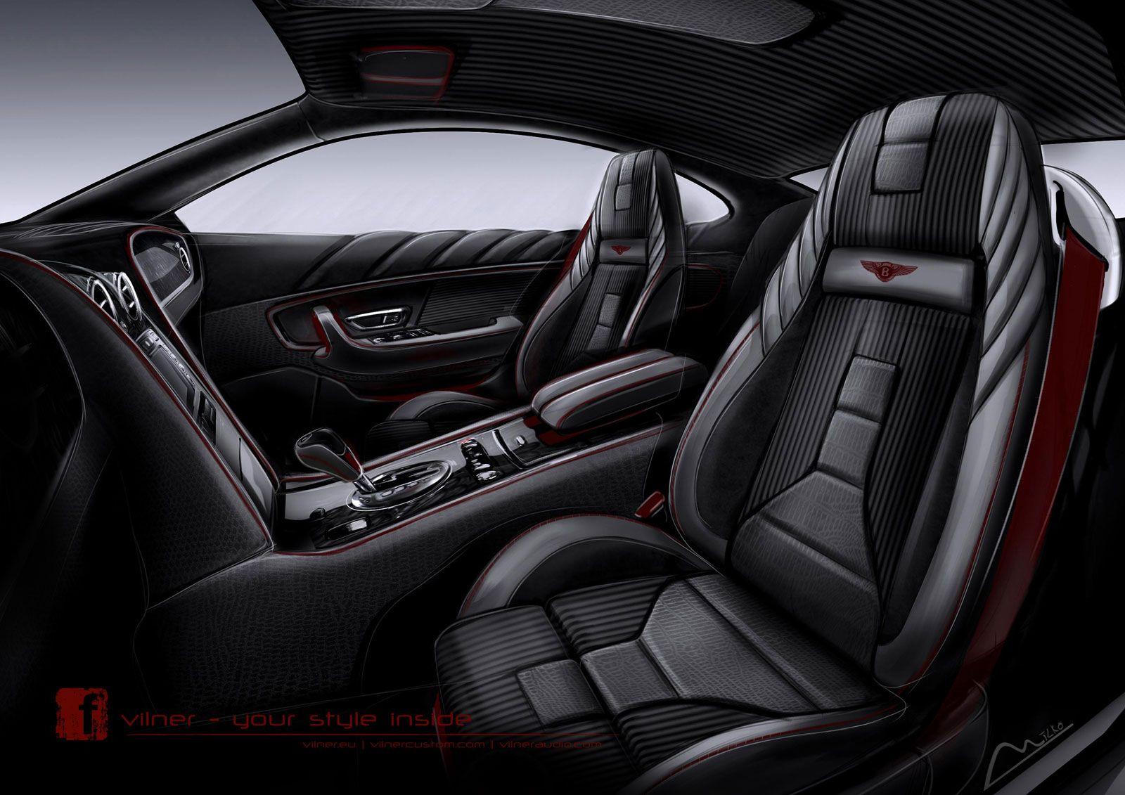 Bentley Continental Gt By Vilner Interior Design Sketch