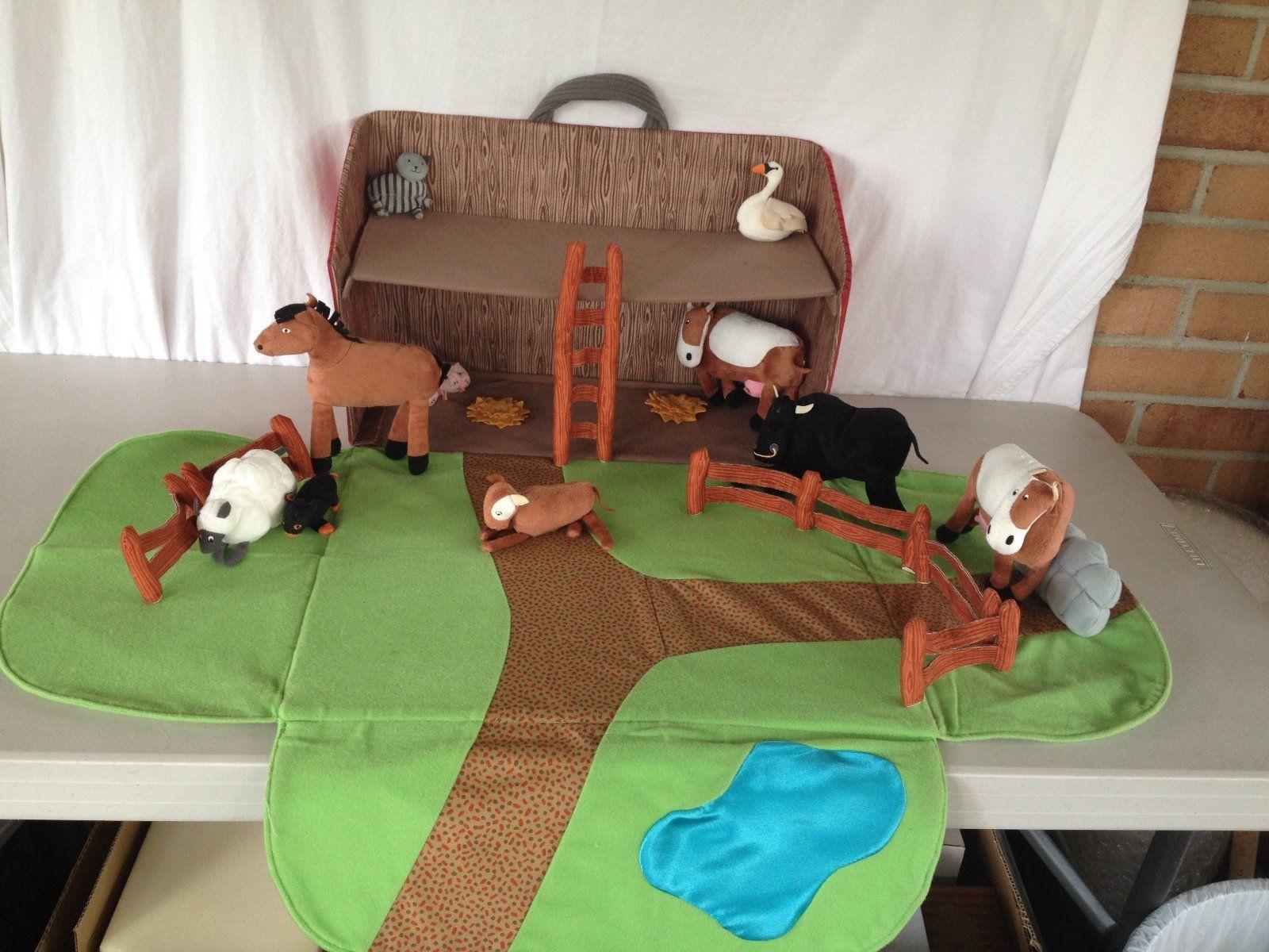Ikea Soft Play Toy Farmhouse With Animals Animal Barn Farm