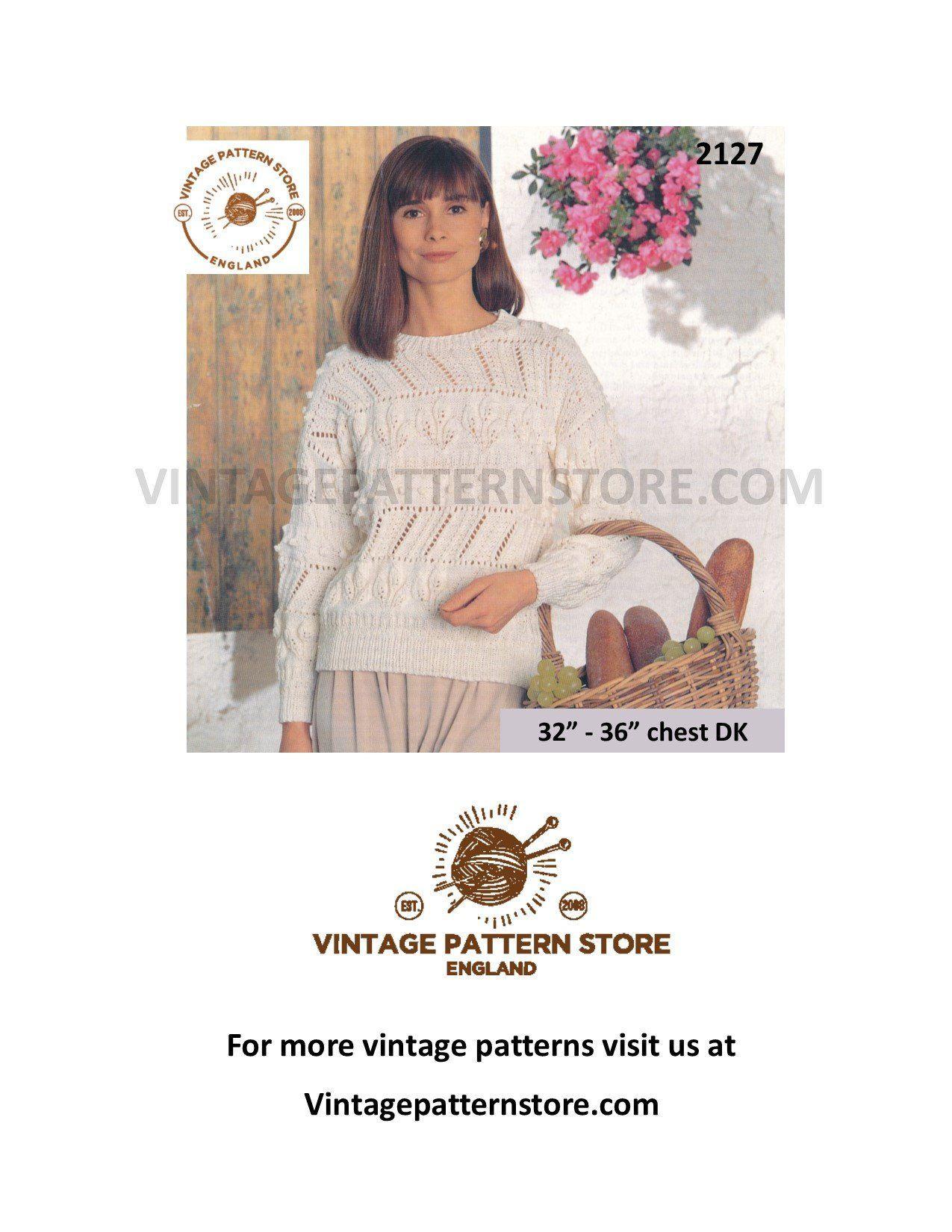 6f7f6b843bbb11 Knitting Pattern ladies
