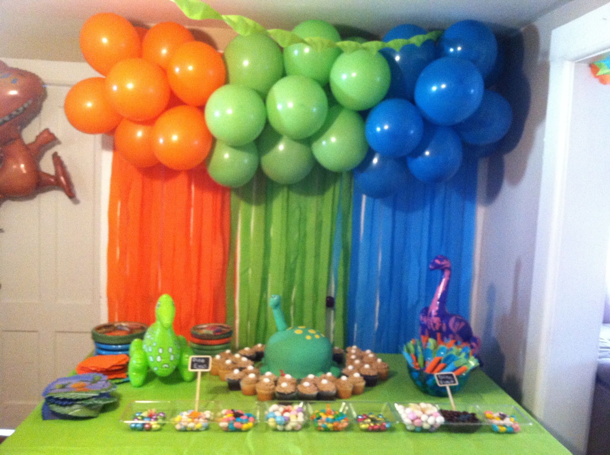 This was for my sons 3rd bday party Dinosaur train theme Anything