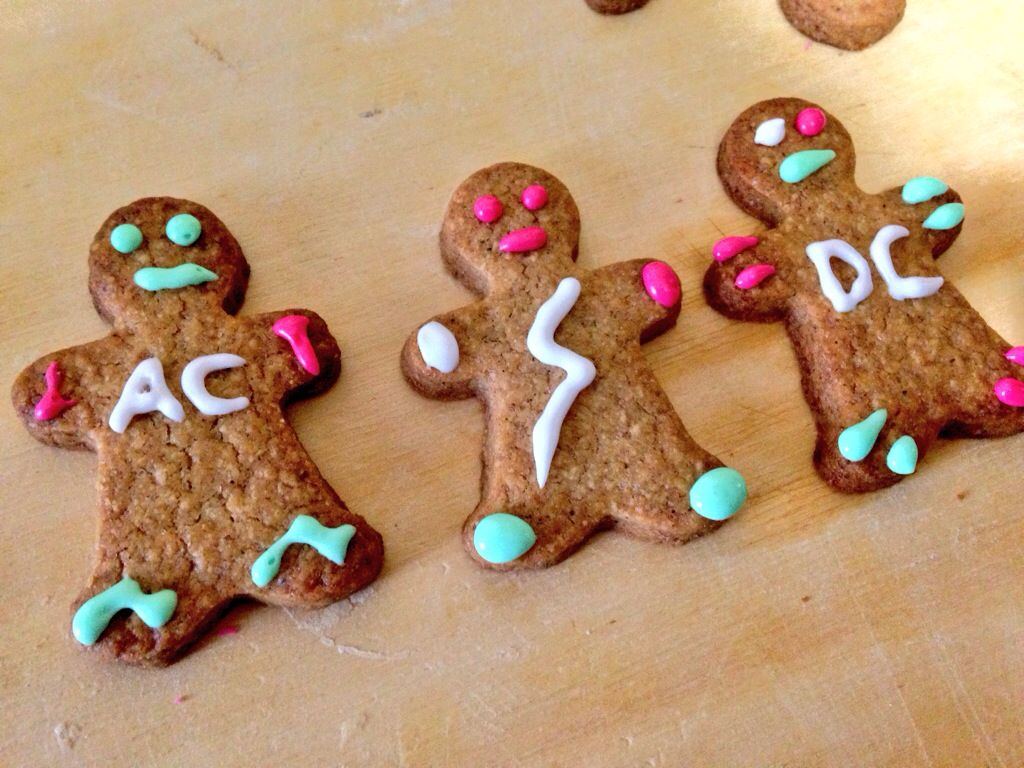 AC/DC Gingerbread biscuits