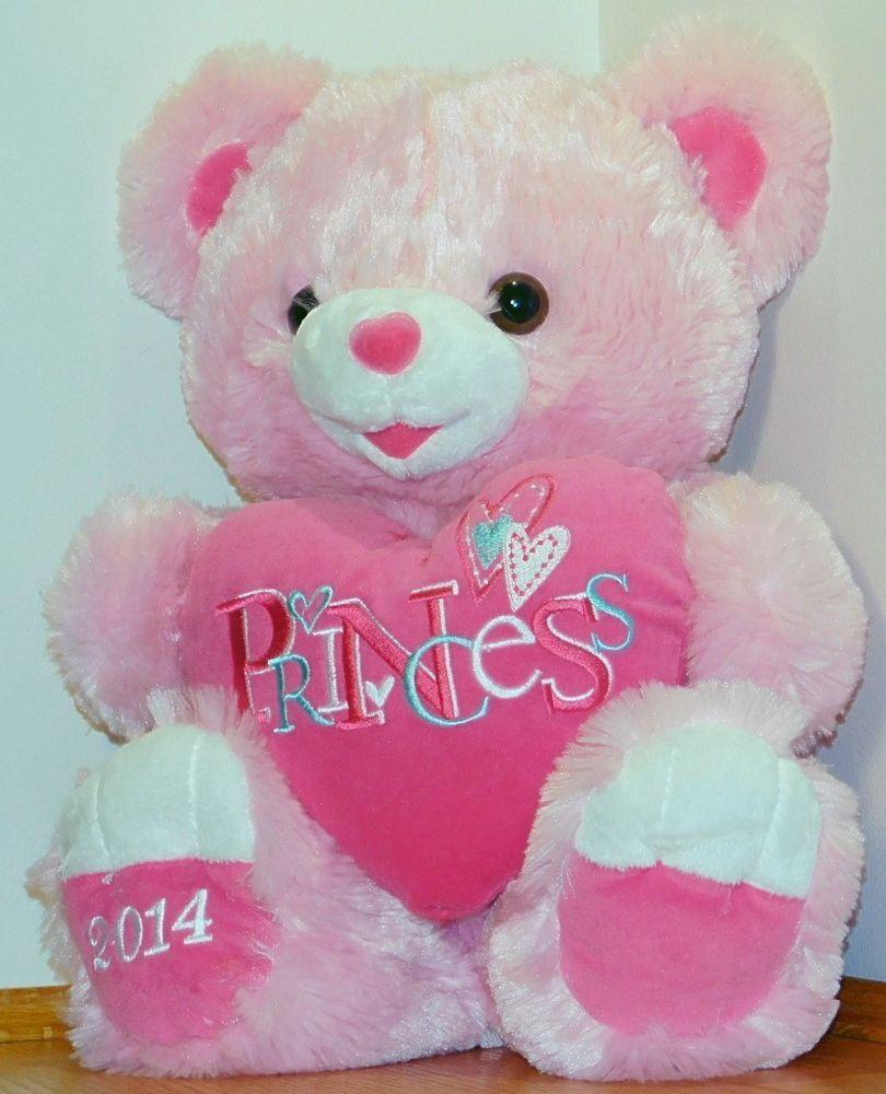 Dan Dee 2014 Pink Princess Sweetheart Teddy Bear Pink Teddy Bear