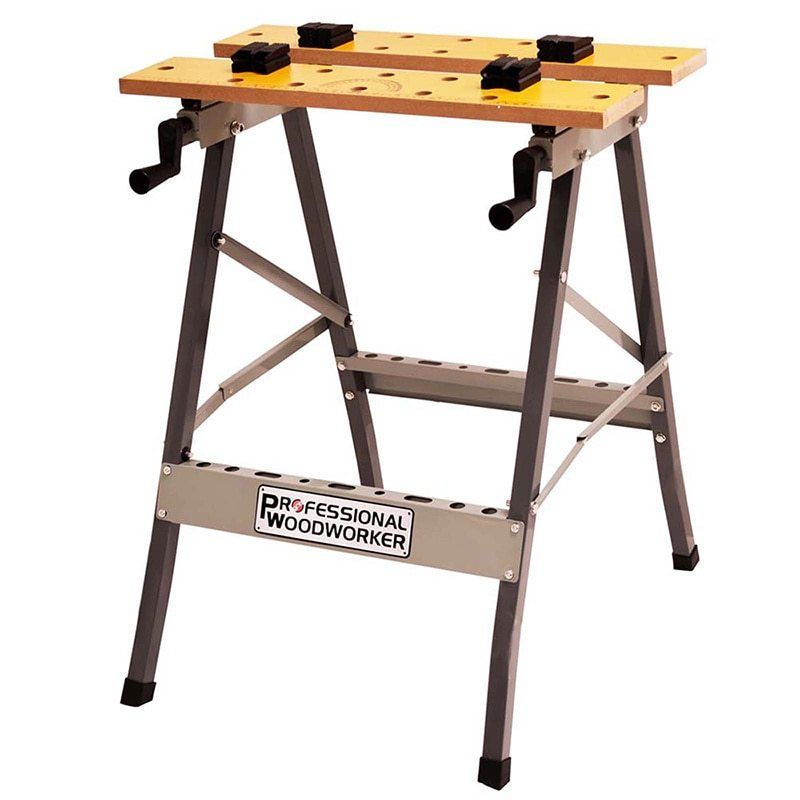 Foldable Workbench Portable Garage Work Bench Woodworking Table Durable  Metal