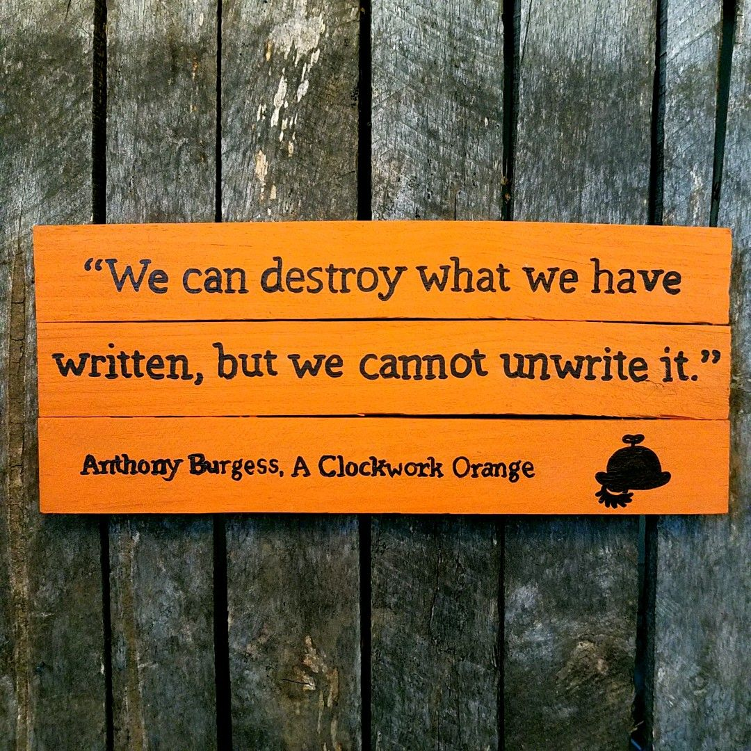 We Can Destroy What We Have Written But We Cannot Unwrite It