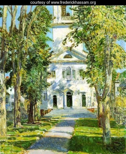 The Church at Gloucester - Frederick Childe Hassam - www.frederickhassam.org