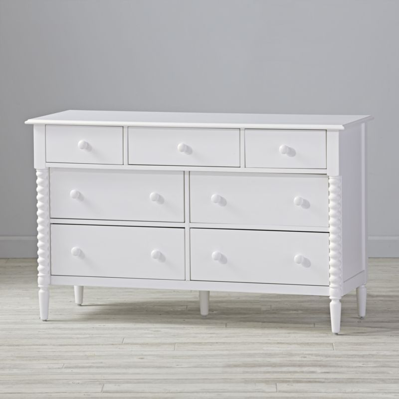 Kids Jenny Lind Wide White Dresser Reviews Crate And Barrel